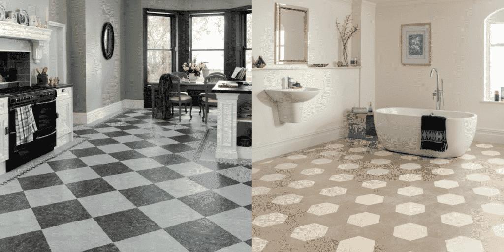 Karndean Art Select, LM16 Fiore and Karndean Kaleidoscope Residential, KAL09 Hexa